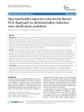 New bandwidth selection criterion for Kernel PCA: Approach to dimensionality reduction and classification problems