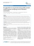 An algorithm to enumerate all possible protein conformations verifying a set of distance constraints