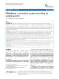 QMachine: Commodity supercomputing in web browsers