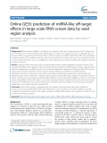 Online GESS: Prediction of miRNA-like off-target effects in large-scale RNAi screen data by seed region analysis