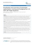 Visualization and correction of automated segmentation, tracking and lineaging from 5-D stem cell image sequences