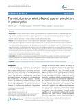 Transcriptome dynamics-based operon prediction in prokaryotes
