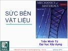Bài giảng Sức bền vật liệu 1: Chương 2 - PGS. TS. Trần Minh Tú