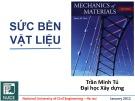 Bài giảng Sức bền vật liệu 1: Chương 0 - PGS. TS. Trần Minh Tú