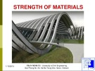 Lecture Strength of Materials I: Chapter 7 - PhD. Tran Minh Tu