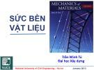 Bài giảng Sức bền vật liệu 1: Chương 6 - PGS. TS. Trần Minh Tú