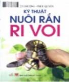 Hướng dẫn nuôi rắn ri voi: Phần 2