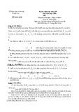 Đề thi chọn học sinh giỏi môn Hóa học lớp 9 năm học 2006-2007 – Sở Giáo dục và Đào tạo Thanh Hóa (Đề chính thức)