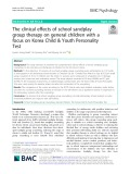 The clinical effects of school sandplay group therapy on general children with a focus on Korea Child & Youth Personality Test