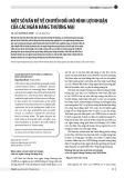 Một số vấn đề về chuyển đổi mô hình lợi nhuận của các ngân hàng thương mại