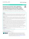 Interpersonal reactivity index adaptation among expectant seroconcordant couples with HIV in Zambézia Province, Mozambique