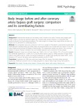 Body image before and after coronary artery bypass graft surgery: Comparison and its contributing factors
