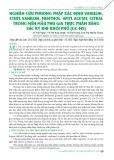 Nghiên cứu phương pháp xác định vanillin, ethyl vanillin, menthol, amyl acetat, citral trong nền mẫu phụ gia thực phẩm bằng sắc ký khí khối phổ (GC-MS)