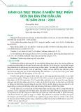 Đánh giá thực trạng ô nhiễm thực phẩm trên địa bàn tỉnh Đắk Lắk từ năm 2014-2018