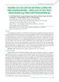 Nghiên cứu và chế tạo để tăng cường tín hiệu raman bề mặt – SERS ZnO có cấu trúc nano/nano Ag trên chất Rhodamine 6G