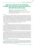 Khảo sát sự tích lũy Pb từ môi trường tự nhiên lên cá rô phi và đánh giá rủi ro sức khỏe đối với người sử dụng