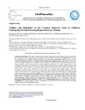 Validity and reliability of the comfort behavior scale in children undergoing wound dressing replacement in Vietnam