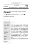 Nghiên cứu về cảm xúc tiêu cực và hành vi đối phó của khách hàng: Trường hợp ngành kinh doanh dịch vụ nhà hàng
