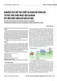 Nghiên cứu chế tạo thiết bị sinh khí sinh học từ rác thải sinh hoạt hộ gia đình xét đến điều kiện khí hậu Hà Nội