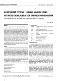 An optimized extreme learning machine using artificial chemical reaction optimization algorithm
