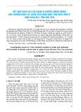 Kết quả khảo sát số lượng vi khuẩn Vibrio trong môi trường nước và trầm tích vùng nuôi tôm hùm lồng ở vịnh Xuân Đài, tỉnh Phú Yên