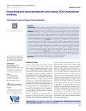 Generating and characterizing the anti-human CD45 monoclonal antibody
