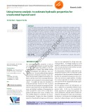 Using inverse analysis to estimate hydraulic properties for unsaturated layered sand
