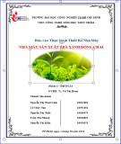 Báo cáo Thực hành thiết kế nhà máy: Nhà máy sản xuất trà xanh đóng chai
