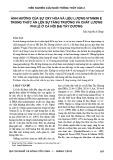 Ảnh hưởng của sự oxy hóa và liều lượng Vitamin E trong thức ăn lên sự tăng trưởng và chất lượng phi lê ở cá Hồi Đại Tây Dương