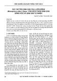 Các chỉ tiêu sinh sản của lươn đồng (Monopterus albus, Zuiew, 1793) kích thích sinh sản bằng HCG và sinh sản tự nhiên