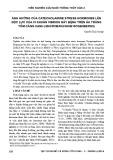 Ảnh hưởng của Catecholamine stress hormones lên độc lực của vi khuẩn vibrios gây bệnh trên ấu trùng tôm càng xanh (Macrobrachium rosenbergii)