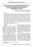 Một số yếu tố nguy cơ liên quan đến bệnh hoại tử gan tụy cấp trên tôm thẻ (Penaeus vannamei) nuôi công nghiệp quy mô nông hộ tại huyện Đầm Dơi, Cà Mau