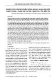 Nghiên cứu phân bố nghêu giống (Meretrix lyrata) ven biển Thạnh Phong – Thạnh Hải, huyện Thạnh Phú, tỉnh Bến Tre