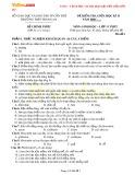 Đề kiểm tra giữa học kì 2 môn Sinh học lớp 11 năm học 2015-2016 – Trường THPT Trung An