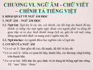 Bài giảng Tiếng Việt Thực hành: Chương 6 – Cao Bé Em