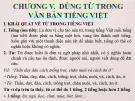 Bài giảng Tiếng Việt Thực hành: Chương 5 – Cao Bé Em