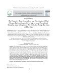 Hình thái ống tiêu hóa và hệ số béo Clark của cá bống lưng cao Butis koilomatodon phân bố ở một số vùng cửa song ven biển thuộc các tỉnh Trà Vinh, Sóc Trăng, Bạc Liêu và Cà Mau