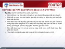 Bài giảng Giao tiếp kinh doanh và thuyết trình: Bài 1 - TS. Trương Thị Nam Thắng