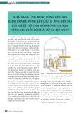 Khả năng ứng dụng sóng siêu âm kiểm tra bê tông kết cấu bị ảnh hưởng bởi nhiệt độ cao mô phỏng tai nạn nóng chảy lõi lò phản ứng hạt nhân