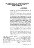Phát triển lý thuyết áp lực đất C.A Coulomb cho đất dính: Bảng tra sẵn các hệ số không thứ nguyên