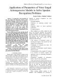 Application of parameters of voice singal autoregressive models to solve speaker recognition problems