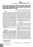 Mô tả tình trạng giấc ngủ và một số yếu tố liên quan trên người bệnh sau phẫu thuật cột sống tại Bệnh viện Đại học Y Hà Nội