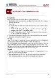 Bài giảng Kinh tế học vi mô 2 - Bài 4: Thị trường cạnh tranh hoàn hảo