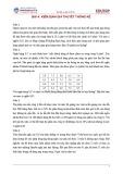 Bài tập và gợi ý trả lời Kiểm định giả thuyết thống kê