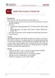 Bài giảng Quản trị Ngân hàng thương mại - Bài 2: Nguồn vốn và quản lý nguồn vốn