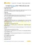 Lý thuyết Tin học lớp 10 – Bài 7: Phần mềm máy tính