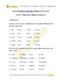 Bài tập Tiếng Anh lớp 10 – Unit 7: The mass media (Có đáp án)