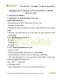 Lý thuyết Sinh học 10 - Bài 13: Khái quát về năng lượng và chuyển hóa vật chất