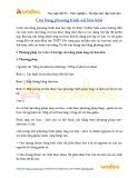 Bài tập Hóa học lớp 10: Cân bằng phương trình oxi hóa khử