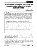 Tác động khả năng hoạt động liên tục đến tỷ lệ nợ vay ngân hàng các công ty niêm yết trên thị trường chứng khoán Việt Nam